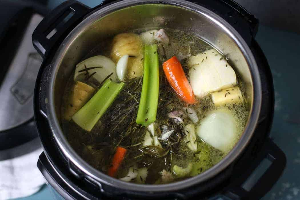 bone broth in an instant pot
