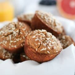 Grain-free Banana Coconut Muffins | The Real Food Dietitians | https://therealfoodrds.com/grain-free-banana-coconut-muffins/