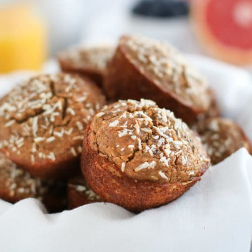Grain-free Banana Coconut Muffins | The Real Food Dietitians | https://therealfooddietitians.com/grain-free-banana-coconut-muffins/