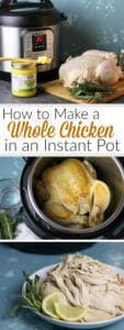 Pinterest image for How to make a Whole Chicken in an Instant Pot