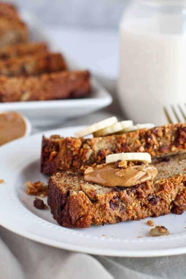 Grain-free Salted Peanut Chocolate Banana Bread