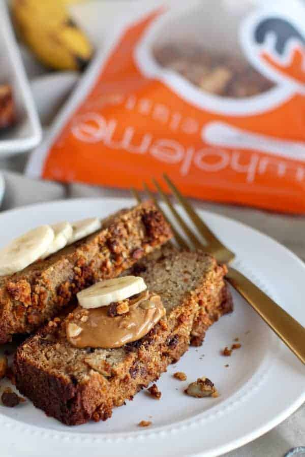 Grain-free Salted Peanut Chocolate Banana Bread