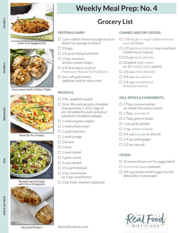 tips for rocking this meal prep menu