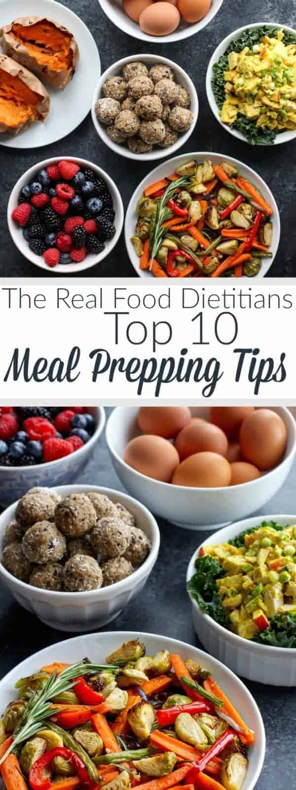 Pinterest image for Top 10 Meal Prepping Tips