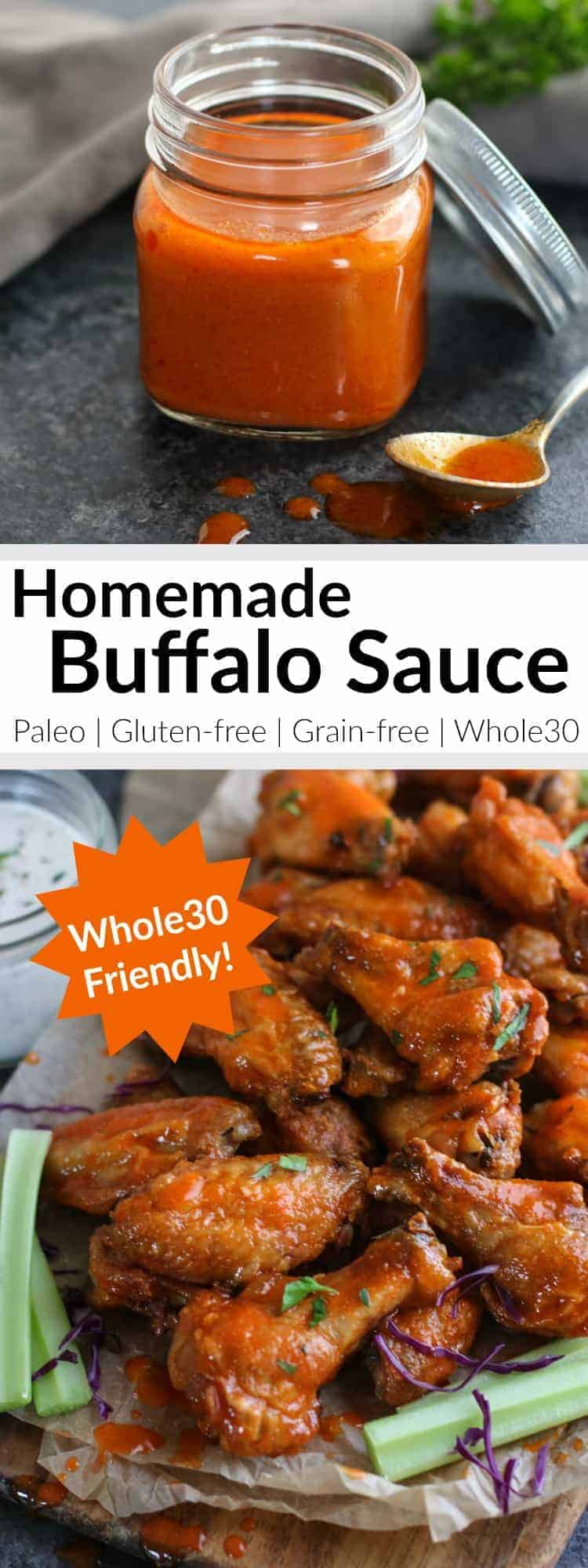 Pinterest image for Whole30 Homemade Buffalo Sauce