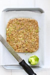 Key Lime Pie Energy Bars with lime zest