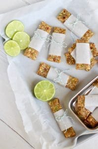 Key Lime Pie Energy Bars