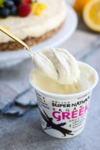 No-Bake Lemon Cheesecake   The Real Food Dietitians   https://therealfooddietitians.com/no-bake-lemon-cheesecake/