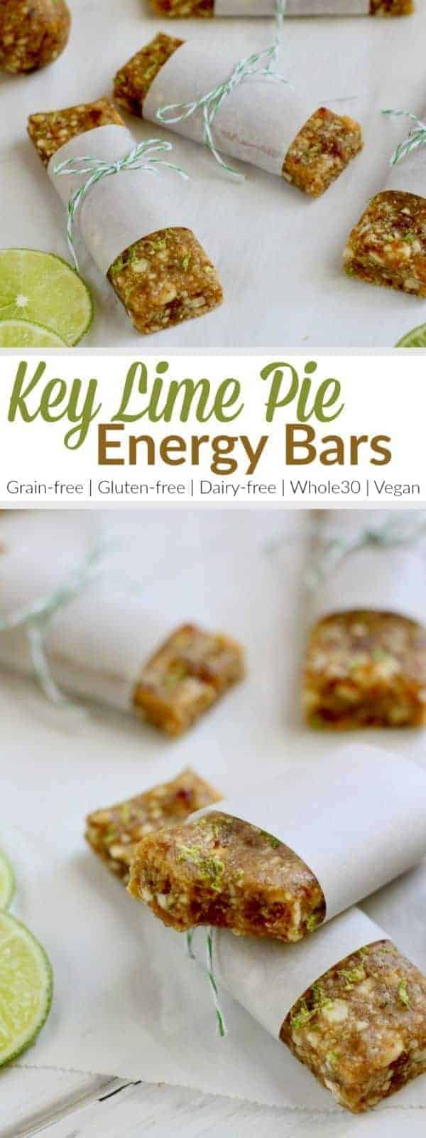 Pinterest image for Key Lime Pie Energy Bars