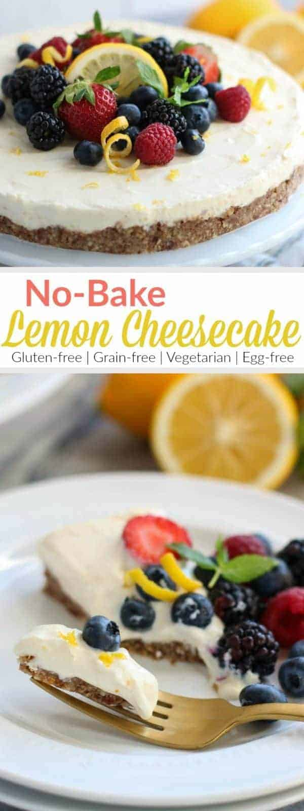 No-Bake Lemon Cheesecake   A light and tangy cheesecake without all the fuss! Serve it with fresh berries and extra lime zest for a simple yet elegant dessert.   The Real Food Dietitians   https://therealfooddietitians.com/no-bake-lemon-cheesecake/