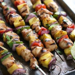Teriyaki Chicken and Pineapple Kebabs | The Real Food Dietitians | https://therealfooddietitians.com/teriyaki-chicken-and-pineapple-kebabs/