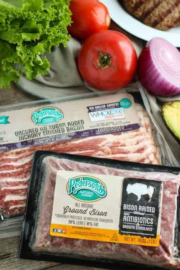 Grilled Bacon Burgers ingredients