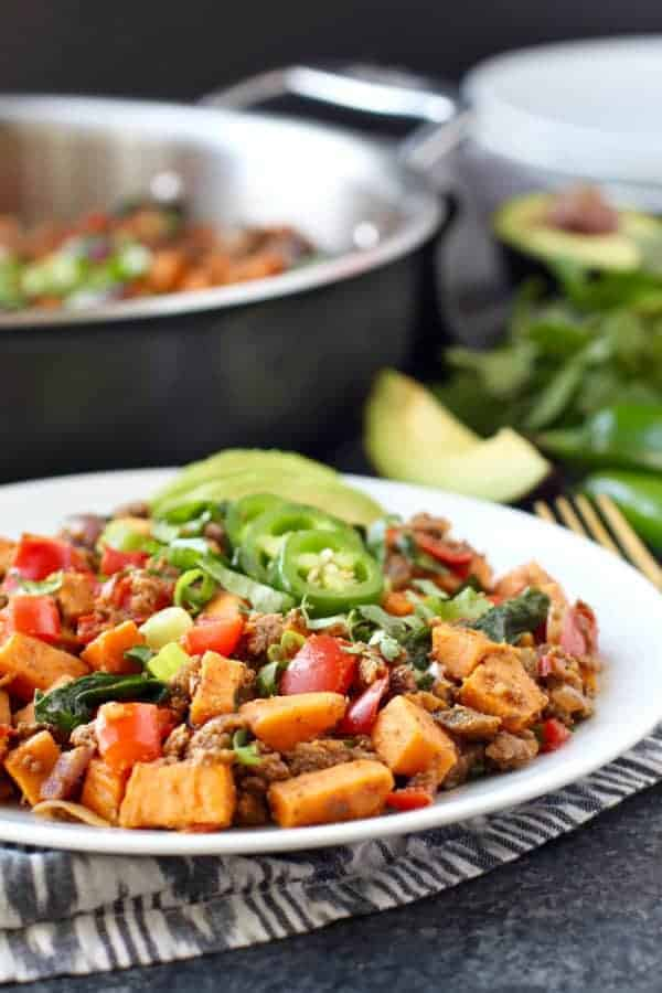 Sweet Potato Tex Mex Hash