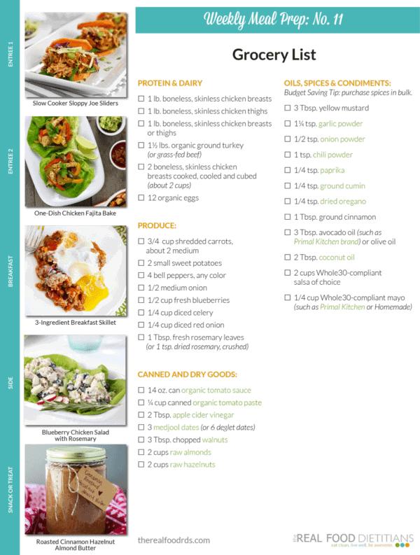 Weekly Meal Prep Menu: No. 11 | The Real Food Dietitians | https://therealfoodrds.com/weekly-meal-prep-menu-no-11/
