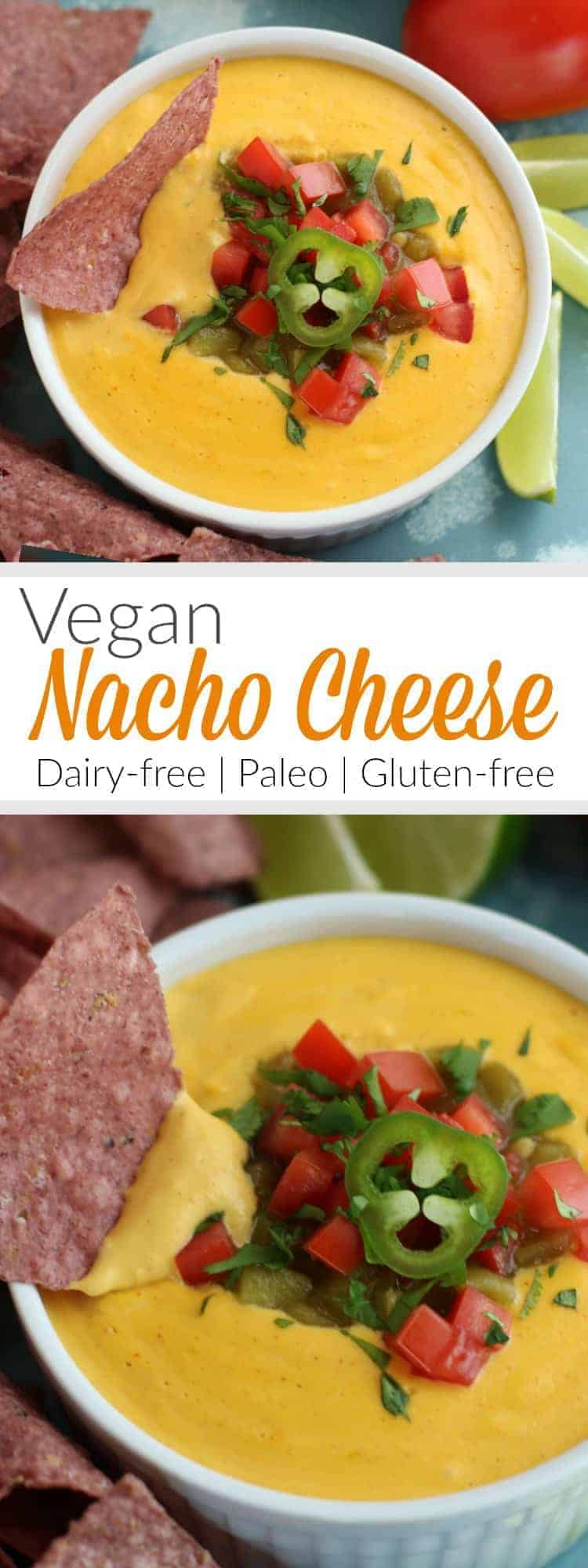 Pinterest image for Vegan Nacho Cheese
