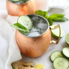 Cucumber Basil Kombucha Mule