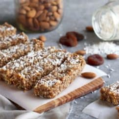 No-Bake Apricot Almond Coconut Energy Bars