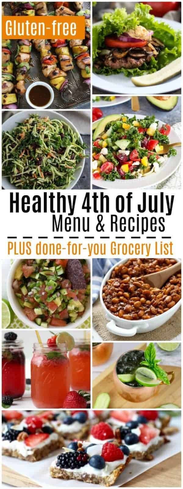 Pinterest image for Healthy 4th of July Menu