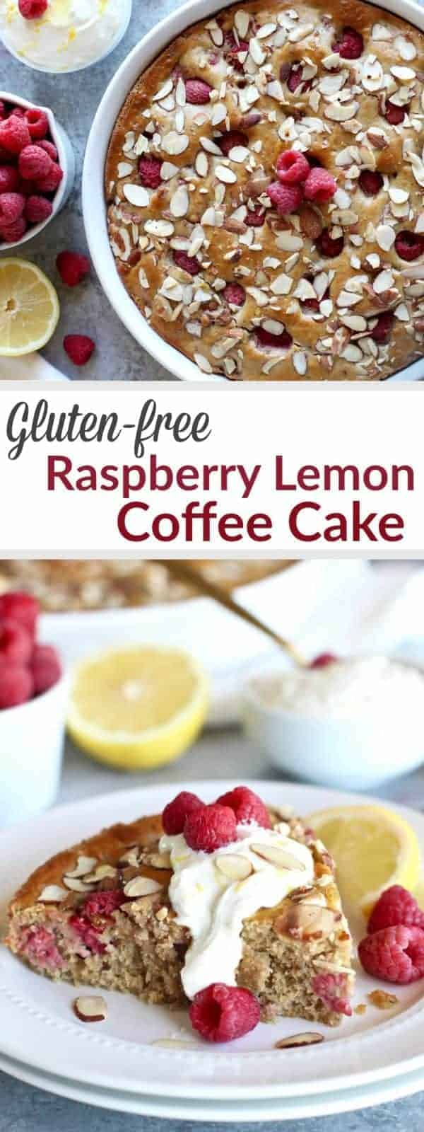 Pinterest image for Gluten-free Raspberry Lemon Coffee Cake