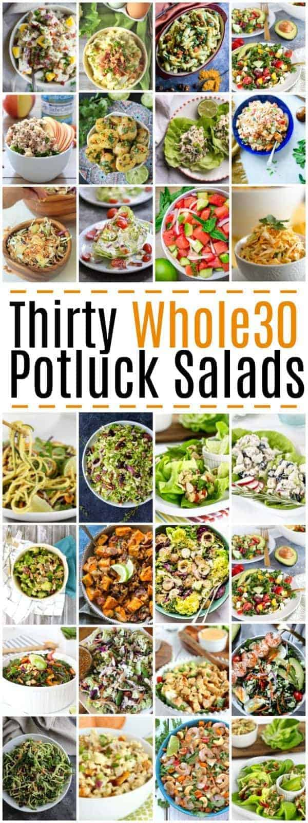 Pinterest Image for 30 Whole30 Potluck Salads