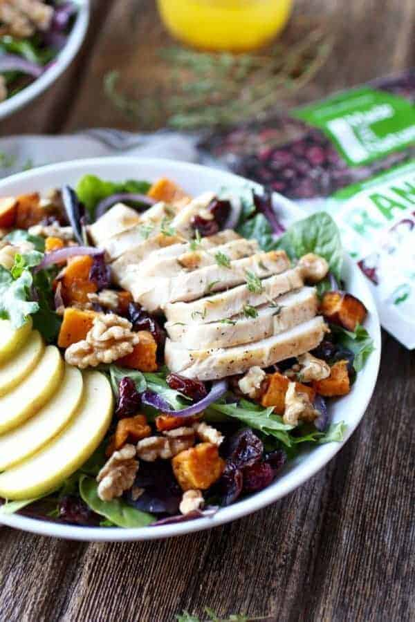 Whole30 Harvest Chicken Salad with Citrus Vinaigrette