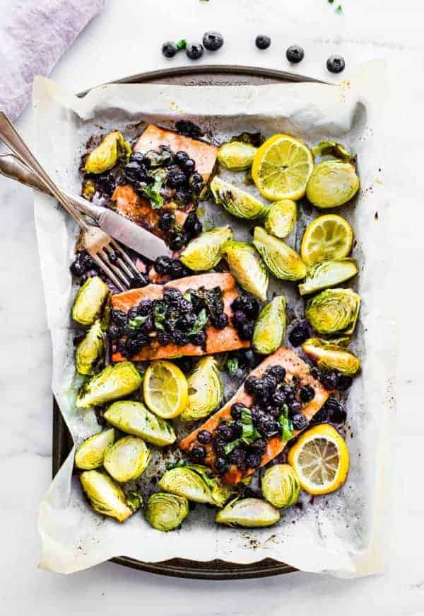 Superfood Baked Salmon in a sheet pan