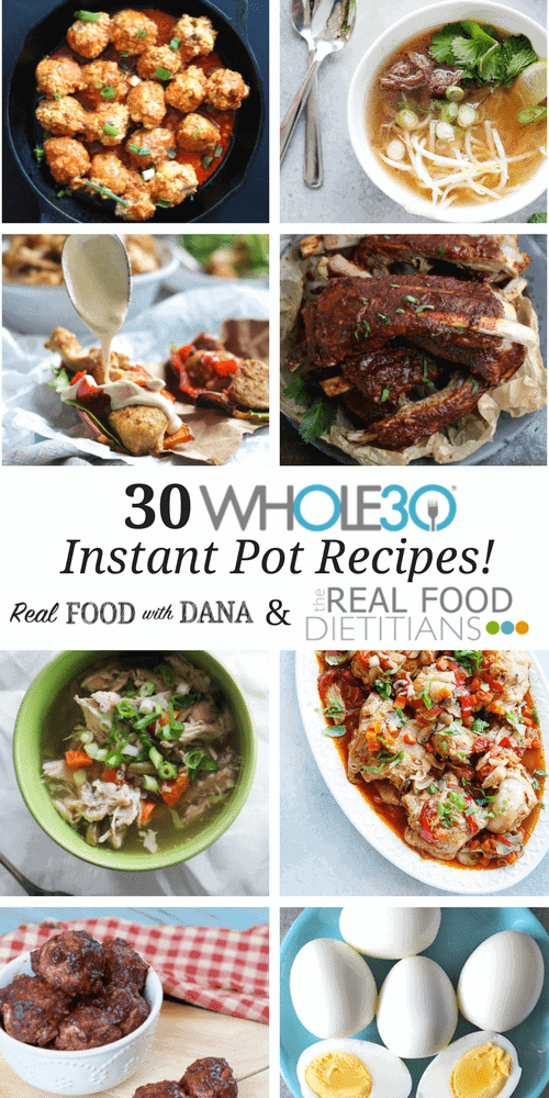 Pinterest image for 30 Whole30 Instant Pot Recipes