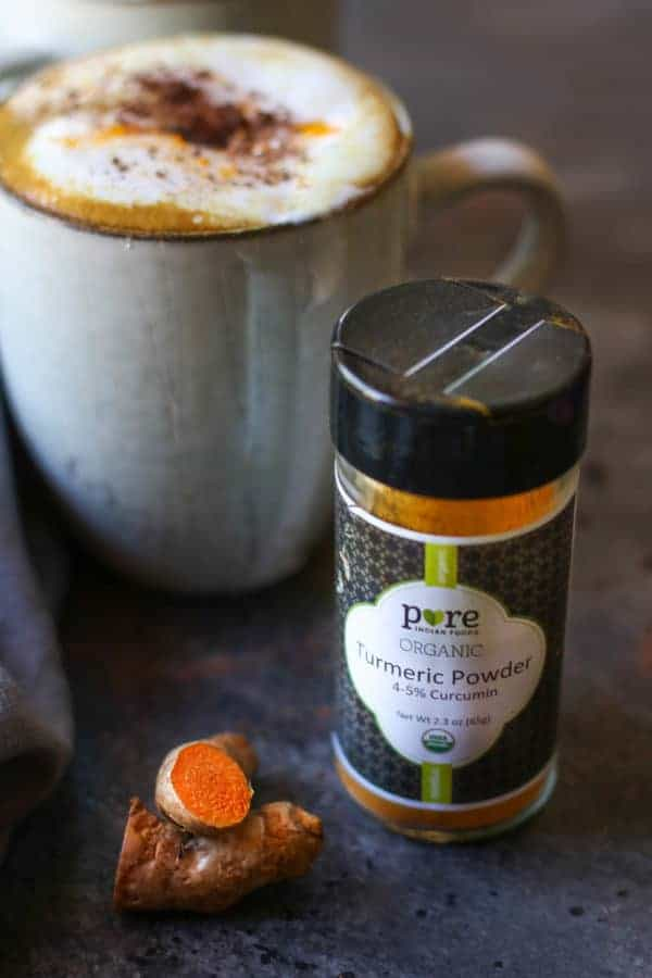 Our Spiced Golden Milk Hot Cocoa leaves sugary, powdery hot cocoa mixes in the dust (plus, it's good for you!) | Dairy-free | Paleo | Vegan | healthy drink recipes | healthy hot cocoa | hot cocoa recipes | cold weather recipes | cold weather beverages | dairy-free hot cocoa | paleo hot cocoa | vegan hot cocoa || The Real Food Dietitians