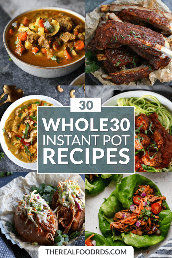 Short Pin Image for 30 Whole30 Instant Pot Recipes