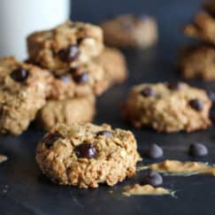 Healthy Peanut Butter Chocolate Chip Oatmeal Cookies | The Real Food Dietitians