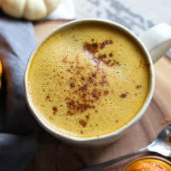 Pumpkin Spice Butter Coffee | The Real Food Dietitians | https://therealfooddietitians.com/pumpkin-spice-butter-coffee/