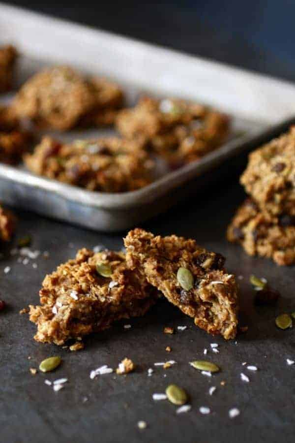Gluten-free Pumpkin Breakfast Cookies | gluten-free breakfast recipes | egg-free breakfast recipes | dairy-free breakfast recipes | nut-free breakfast recipes | homemade breakfast cookies | pumpkin breakfast recipes | healthy breakfast recipes | quick breakfast recipes || The Real Food Dietitians #glutenfreebreakfast #breakfastcookies #pumpkinrecipes