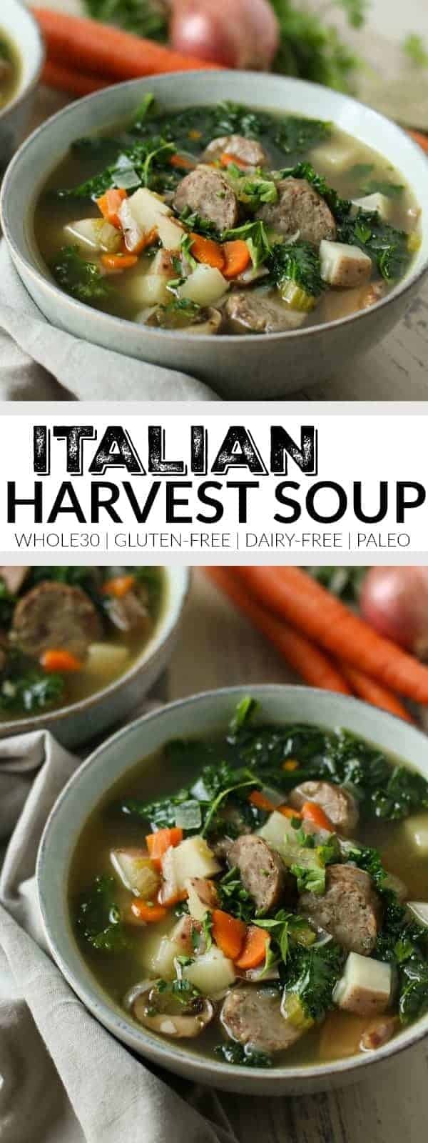 Italian Harvest Soup | whole30recipes soup recipes | gluten-free soup recipes | dairy-free soup recipes | paleo soup recipes | healthy soup recipes | cold weather recipe ideas | homemade soup recipes | whole30recipes recipe ideas | whole30 meal ideas | gluten-free dinners || The Real Food Dietitians #souprecipes #whole30recipes #whole30 #whole30soups #glutenfree