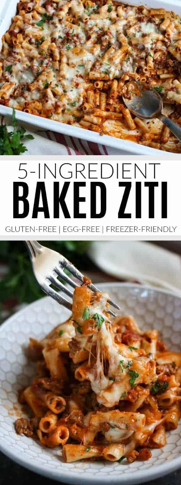 Pinterest image for baked ziti