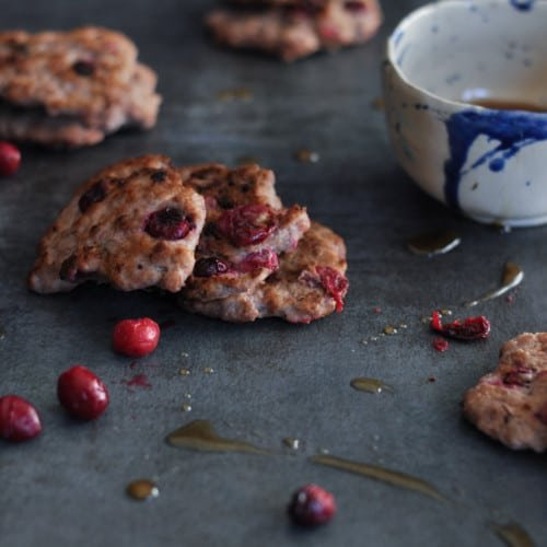 Cranberry Breakfast Sausage Patties | The Real Food Dietitians | https://therealfooddietitians.com/cranberry-breakfast-sausage-patties/
