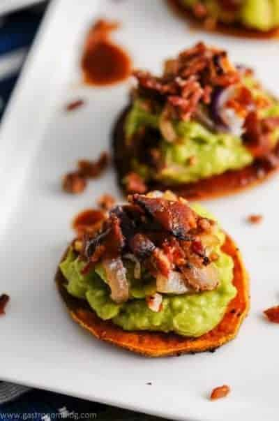 Sweet Potato Guacamole Bacon Bites
