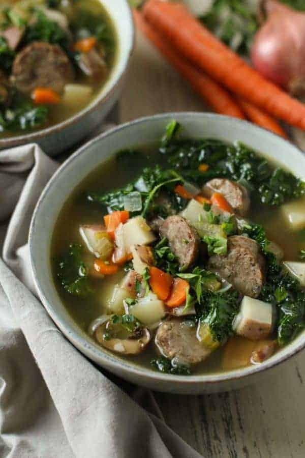 Italian Harvest Soup   30 Whole30 Soups, Stews & Chilis   healthy soup recipes   whole30 meal ideas   whole30 recipes   whole30 chili recipes    The Real Food Dietitians #whole30soups #whole30recipe #whole30meals