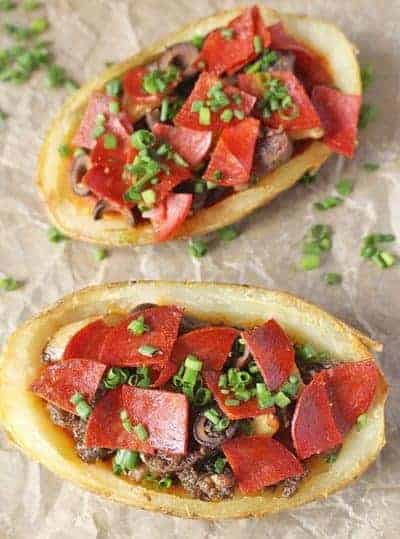 Paleo Pizza Potato Skins