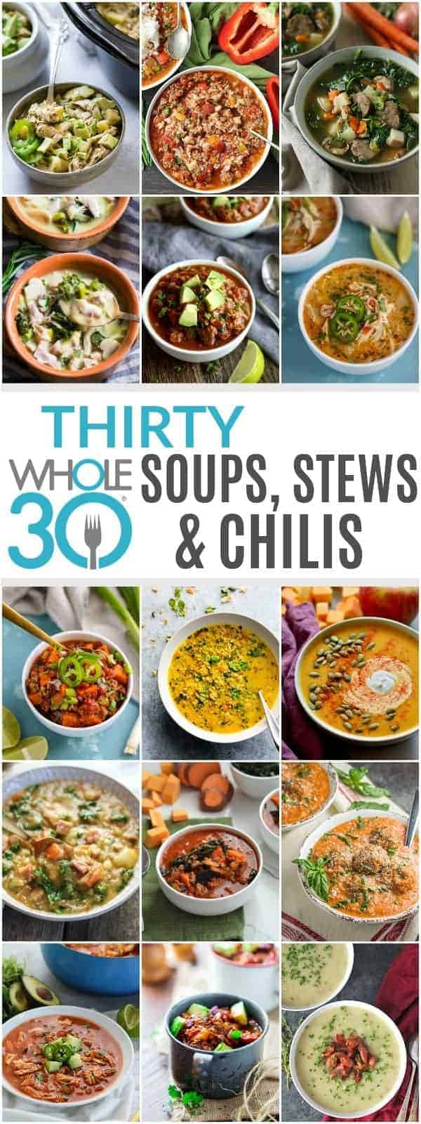 30 Whole30 Soups, Stews & Chilis | healthy soup recipes | whole30 meal ideas | whole30 recipes | whole30 chili recipes || The Real Food Dietitians #whole30soups #whole30recipe #whole30meals