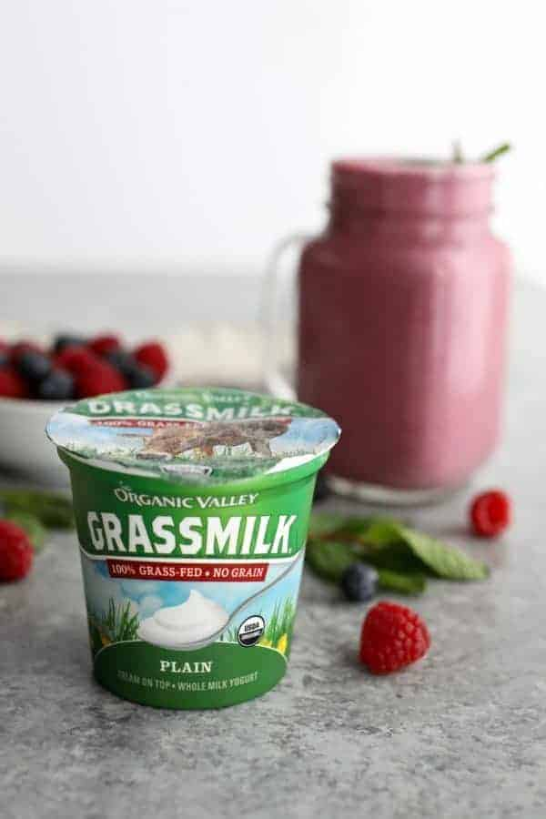 organic valley grassmilk plain yogurt