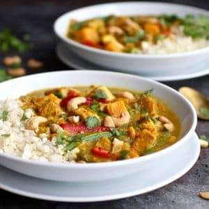 Instant Pot Sweet Potato Chicken Curry (with Slow Cooker option)