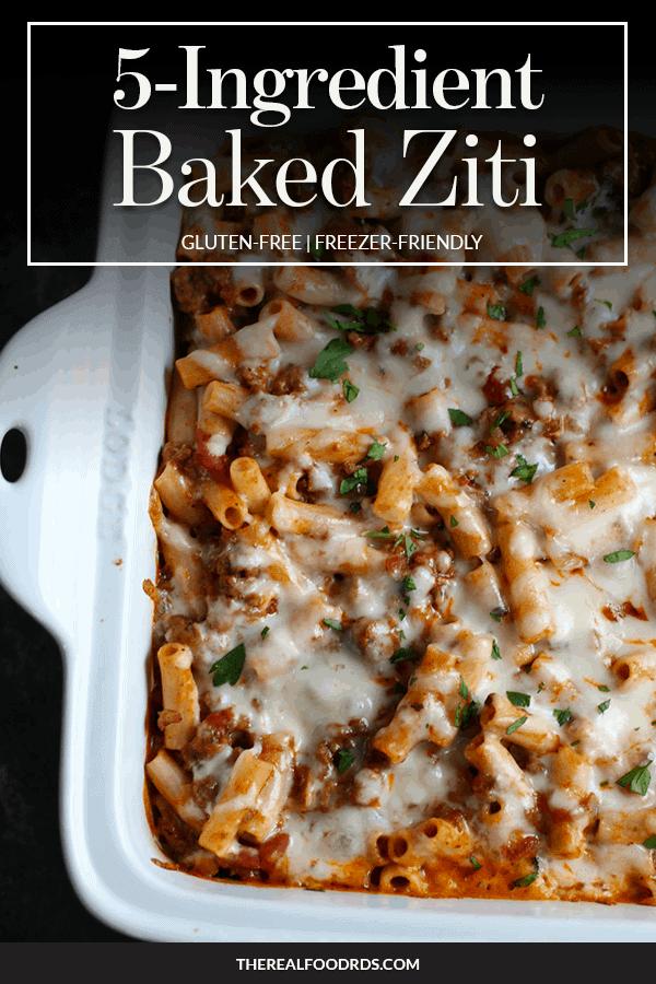 Pin image for 5-Ingredient Baked Ziti