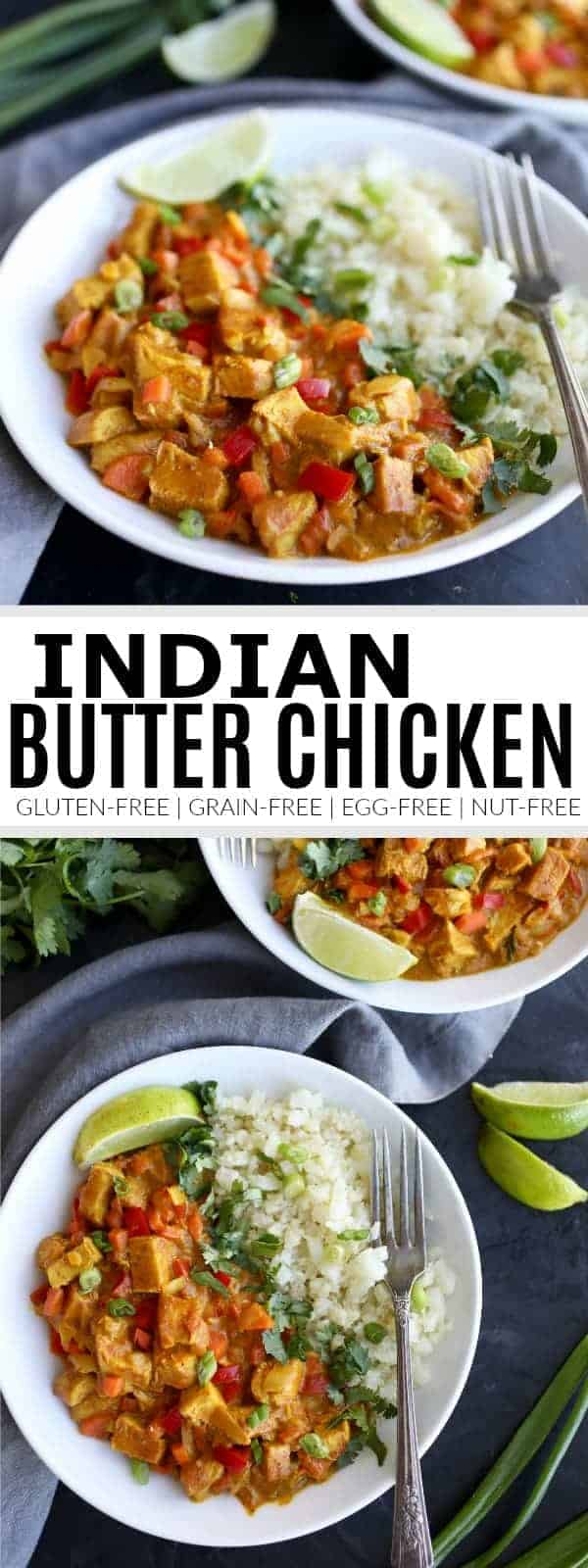 Pinterest image for Indian butter chicken