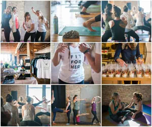 A collage of photos from a women's event