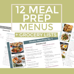 12 Meal Prep Menus + Grocery Lists