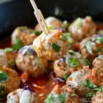 One-Skillet Buffalo Chicken Meatballs