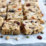 No-Bake Fruit & Nut Granola Bars