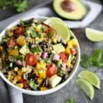 Tex-Mex Quinoa Salad with Black Beans & Corn