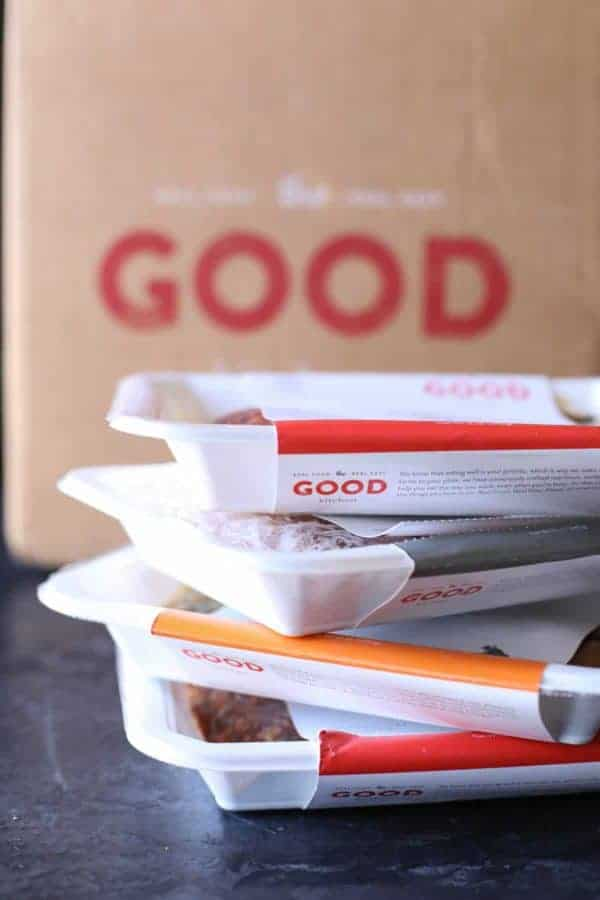 3 Ways to Make a Meal in Under 10 Minutes stack of packed meals from the Good Kitchen