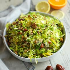 Sweet and Smoky Brussels Slaw
